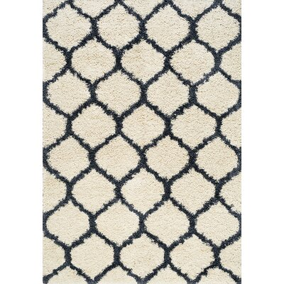 Balinda Blue/Cream Area Rug Rug Size: 710 x 112