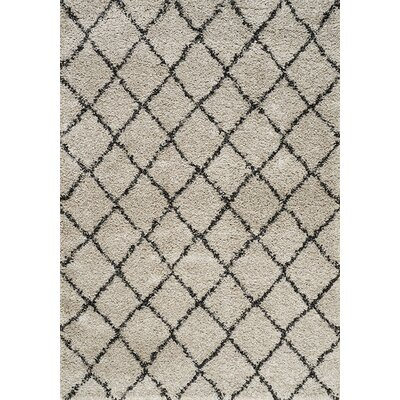 Balinda Cream/Black Area Rug Rug Size: 53 x 77