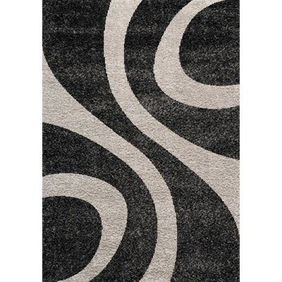 Kaitlyn Cream/Black Area Rug Rug Size: 710 x 112