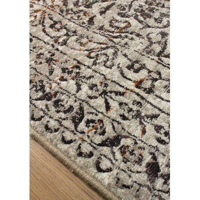 Billerica Gray/Brown Area Rug Rug Size: 53 x 77