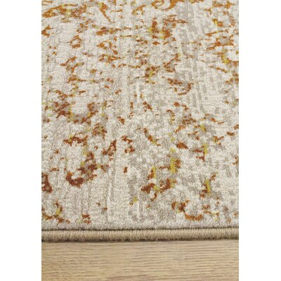 Billerica Gray/Orange Area Rug Rug Size: 710 x 1010