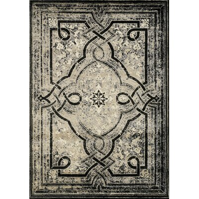 Dollie Black/Beige Area Rug Rug Size: 710 x 106