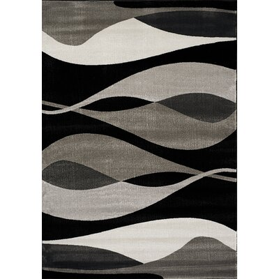 Ricky Black/Gray Area Rug Rug Size: Rectangle 53 x 77