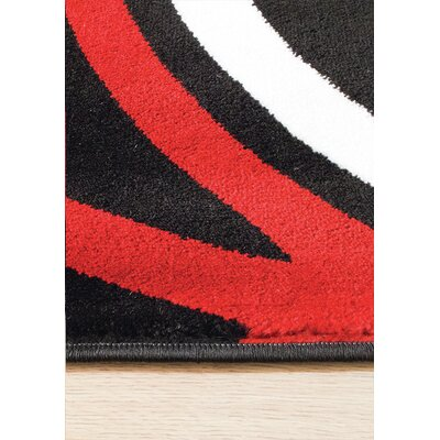 Ricky Black/White Area Rug Rug Size: Rectangle 53 x 77