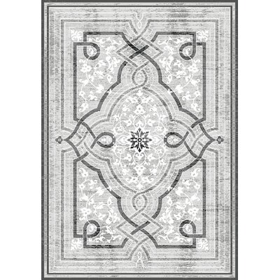 Dollie Gray Area Rug Rug Size: 53 x 77