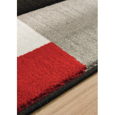 Absecon Red/Black Area Rug Rug Size: Rectangle 53 x 77