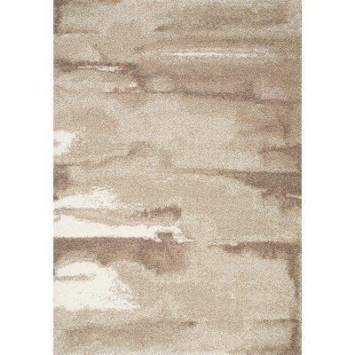 Kara Brown/Cream Area Rug Rug Size: 53 x 77
