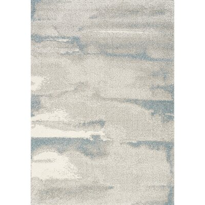 Kara Cream/Blue Area Rug Rug Size: Rectangle 53 x 77