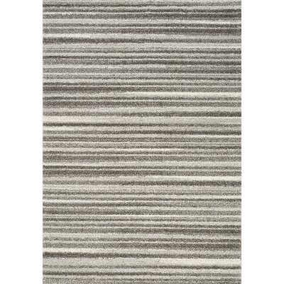 Kara Gray/White Area Rug Rug Size: Rectangle 53 x 77