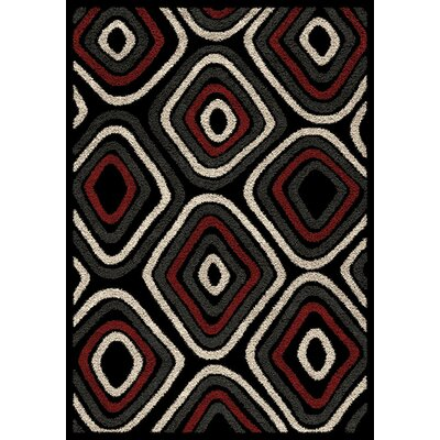 Teeple Red/Beige Area Rug Rug Size: 53 x 77