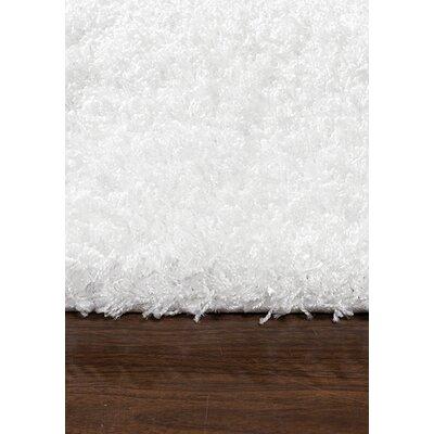 Lorene White Area Rug Rug Size: 53 x 77