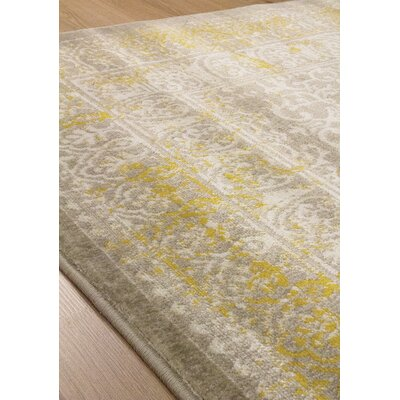 Airra Gray/Gold Area Rug Rug Size: 710 x 106