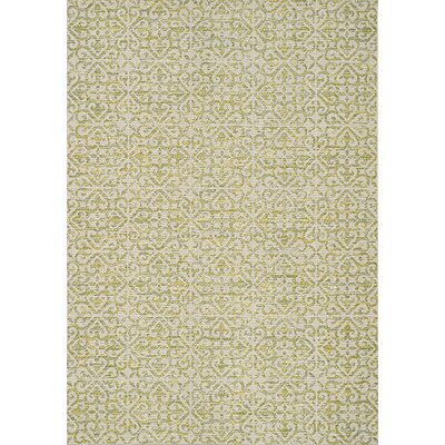 Brindley Green/Beige Area Rug Rug Size: 710 x 1010
