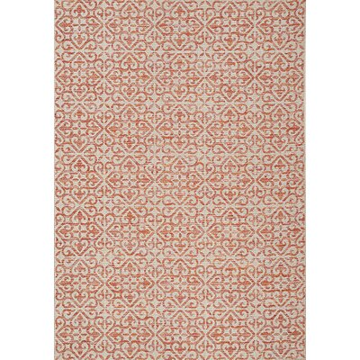 Khalid Red Area Rug Rug Size: 53 x 77