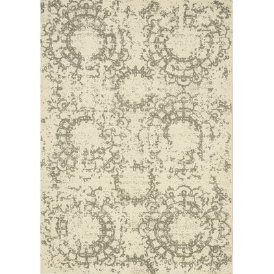 Kavia Gray/Cream Area Rug Rug Size: 710 x 106