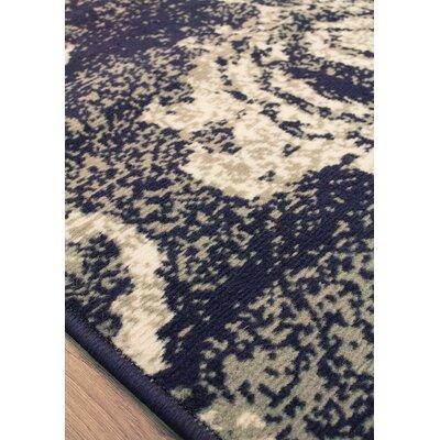 Ferrante Navy Area Rug Rug Size: 53 x 77