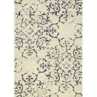Ferrante Navy/Cream Area Rug Rug Size: 710 x 106
