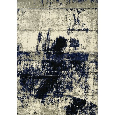 Alcester Navy/Cream Area Rug Rug Size: 53 x 77