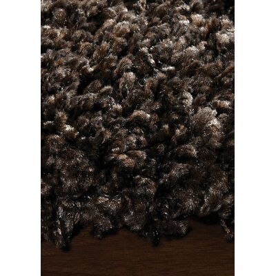 Barry Luxurious Dark Brown Area Rug Rug Size: 710 x 112
