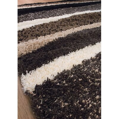 Retzlaff Brown/Tan Area Rug Rug Size: 53 x 77