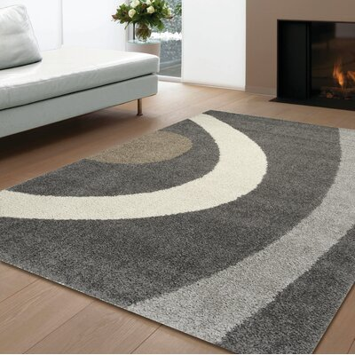 Channel Gray Force Frieze Area Rug Rug Size: 53 x 77