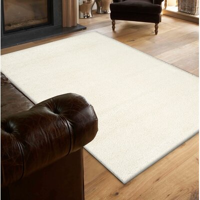Stanley Glitz Low Pile Off-White Area Rug Rug Size: 710 x 1010