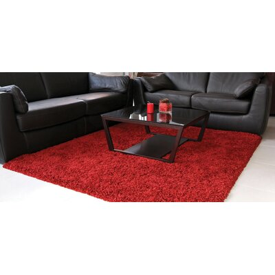 Barry Luxurious Red Area Rug Rug Size: 710 x 112