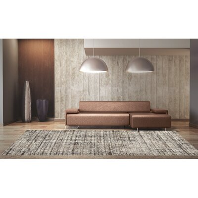 Rundelle Cream/Brown Area Rug Rug Size: 2 x 37