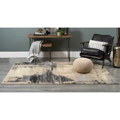 Arden Beige/Black Area Rug Rug Size: 710 x 106