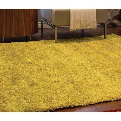 Bunderberg Yellow Solid Area Rug Rug Size: 53 x 77