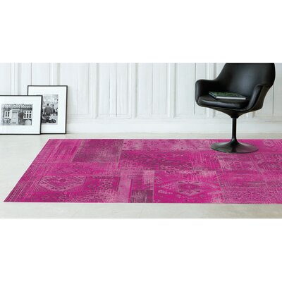 Lunceford Pink Brilliant Patchwork Area Rug