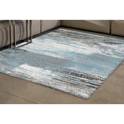 Esqueda Blend Blue Area Rug Rug Size: 53 x 77