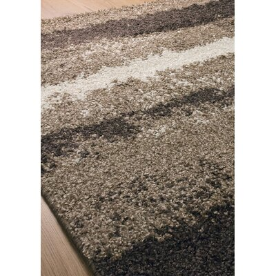Rundey Stripes Cream/Brown Area Rug Rug Size: 710 x 1010