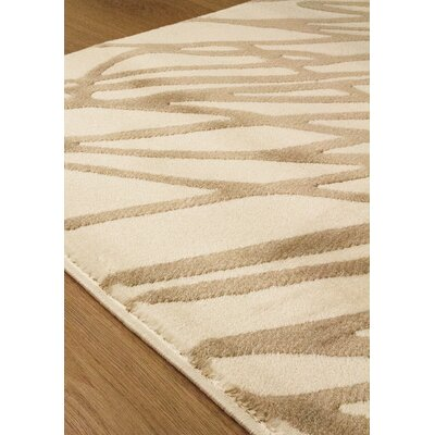 Correa String Cream/Brown Area Rug Rug Size: 7'10