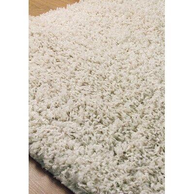 Burchett Cream Shag Area Rug Rug Size: 53 x 77