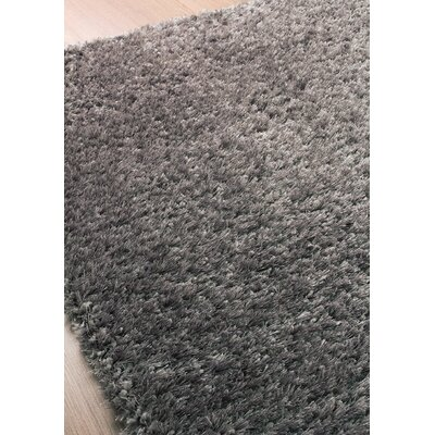 Stanley Glitz Low Pile Gray Shag Area Rug Rug Size: 53 x 77