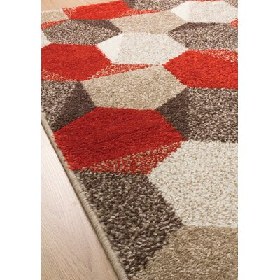 Mucklen Honeycomb Area Rug Rug Size: 3'11