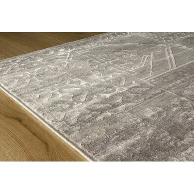 Barthel Gray Area Rug Rug Size: 53 x 77