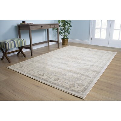 Bartram Faded Patterns Traditional Beige/Gray Area Rug Rug Size: 53 x 77