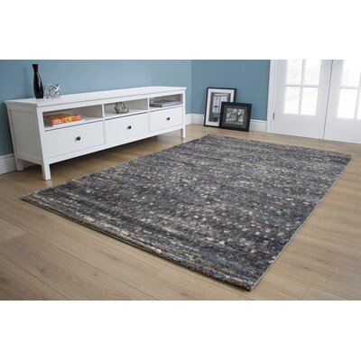 Aubuchon Speckled Gray Area Rug Rug Size: 53 x 77