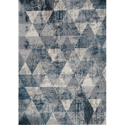 Esqueda Diamonds Blue Area Rug Rug Size: 53 x 77