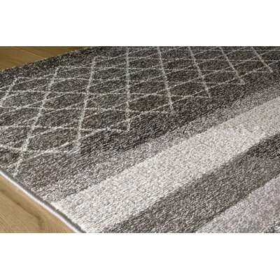 Mucklen Tribal Geometric Gray Area Rug Rug Size: 5'3
