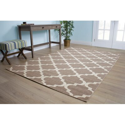 Pomfret Brown/Cream Area Rug Rug Size: 710 x 106