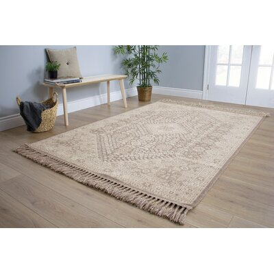 Colyn Heiroglyphics Brown/Cream Area Rug Rug Size: 53 x 77