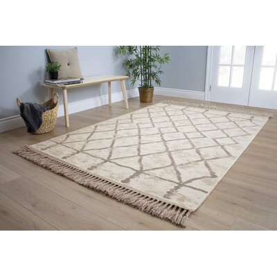 Mason Western Brown/Cream Area Rug Rug Size: 53 x 77