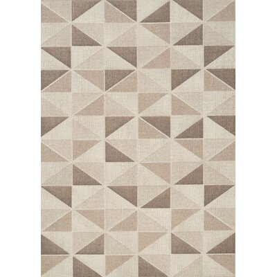 Mason Triangles Brown/Cream Area Rug Rug Size: 53 x 77