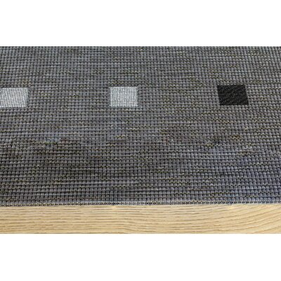 Basso Black Outdoor Area Rug Rug Size: 53 x 77