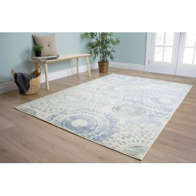 Corby Light Pinwheel Cream Area Rug Rug Size: 53 x 77