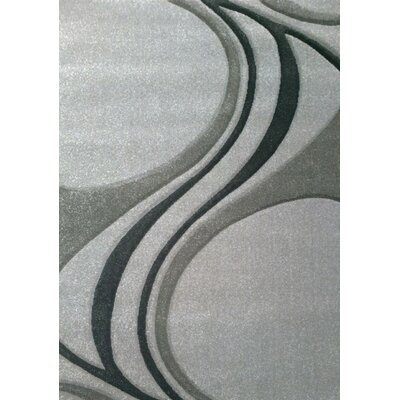 Elisabeth Waves Gray Area Rug Rug Size: 710 x 106