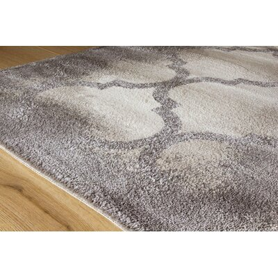 Amara Soft Terrace Cream/Tan Area Rug Rug Size: 53 x 77